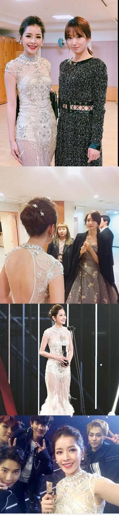 :3  chi pu xinh đẹp nhận giải thưởng ở hàn quốc, đọ sắc park shin hye và exo  :d