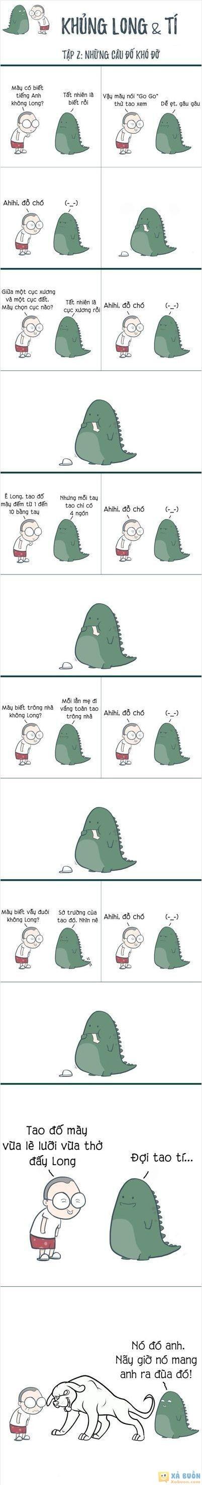 :x  khủng long & tí - tập 2  :3  -  haivl | hài hước | hài vl