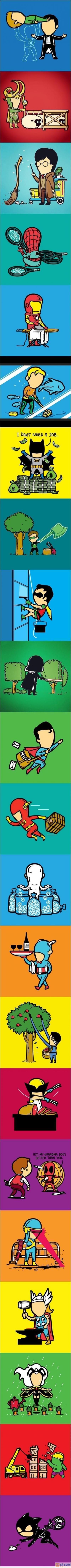 :d  khi các siêu anh hùng đi làm thêm =))  <3 <3   -  haivl | hài hước | hài vl